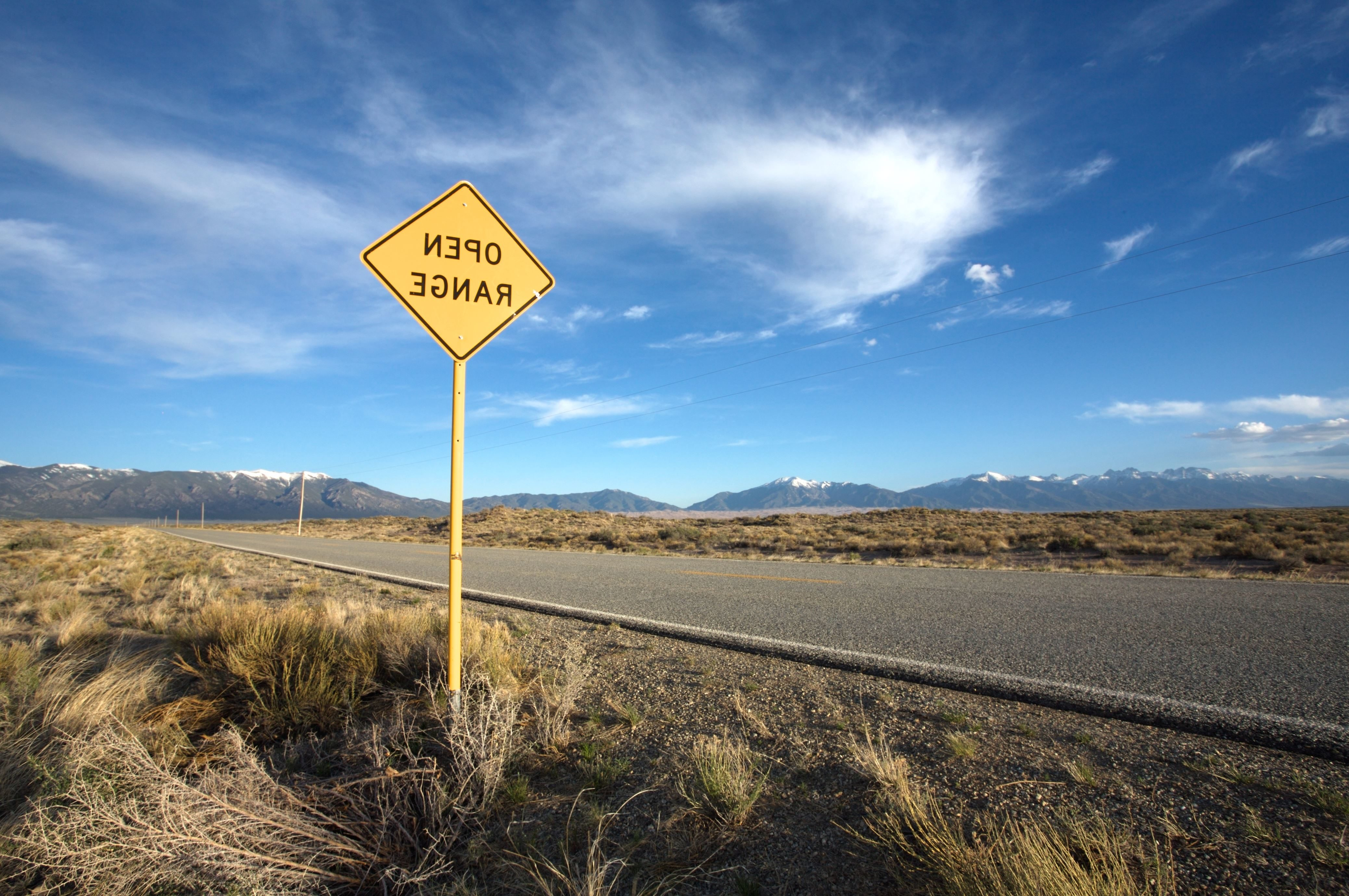 Free picture: guidance, highway, road, sign, desert