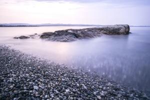 oblázky, rock, moře, obloha, kámen, voda
