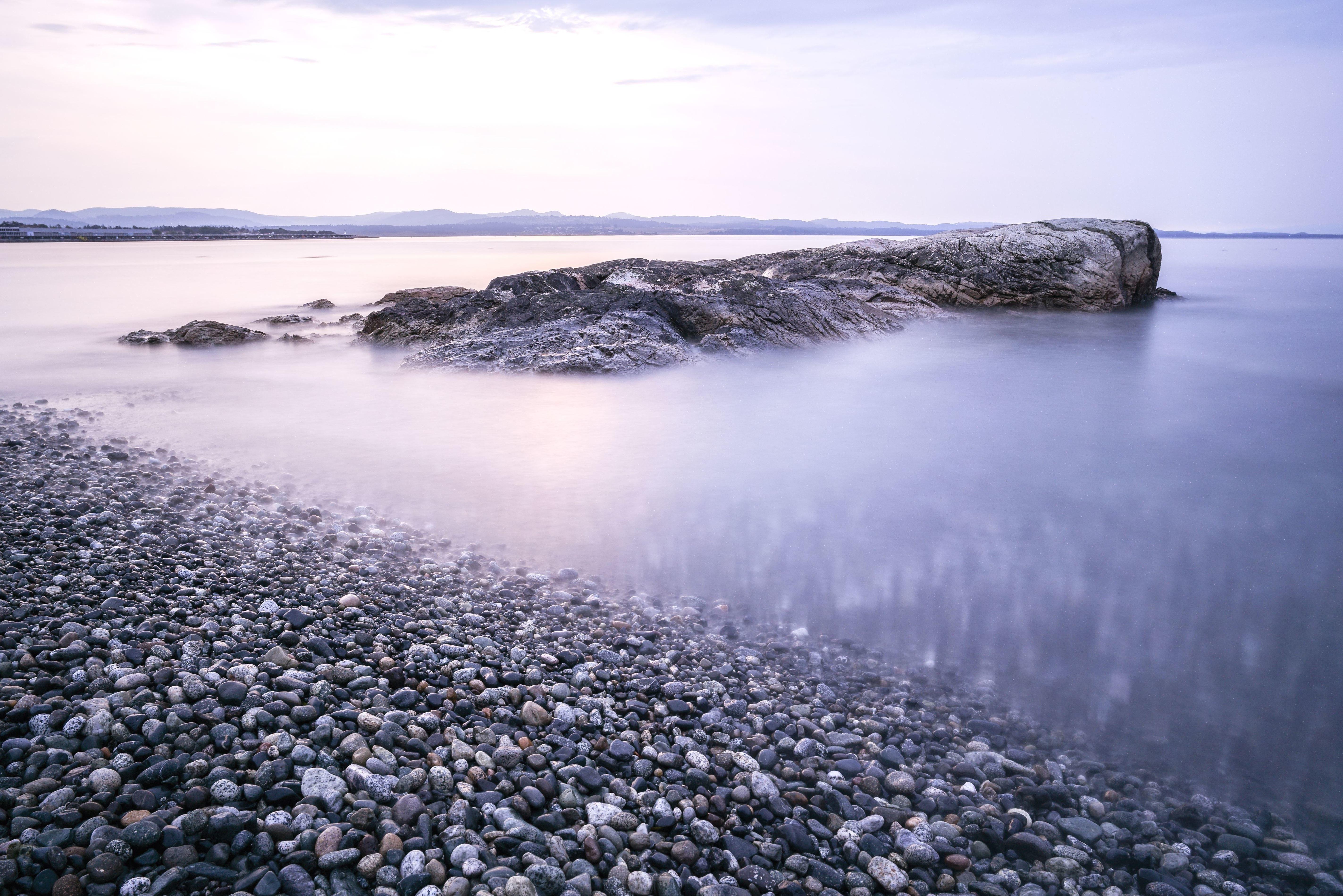 Kostenlose Bild: Kiesel, Felsen, Meer, Himmel, Stein, Wasser