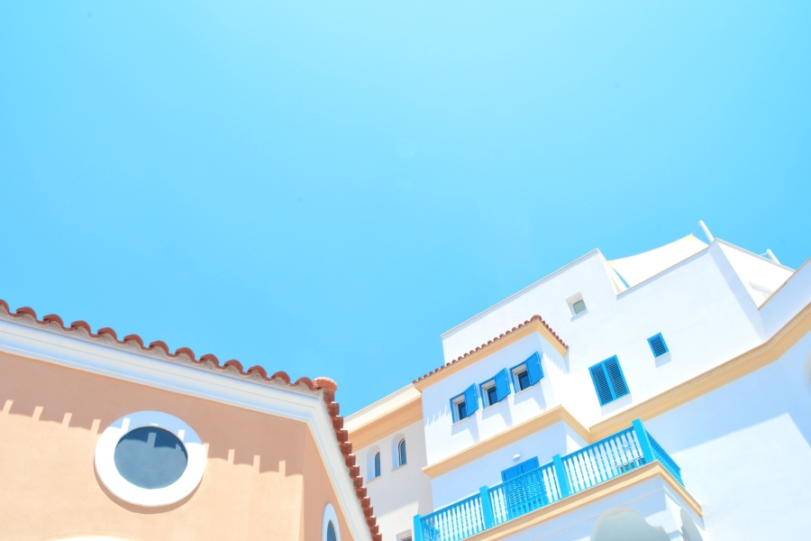 obloha, leto, exteriory, cestovanie, dovolenka, architektúra