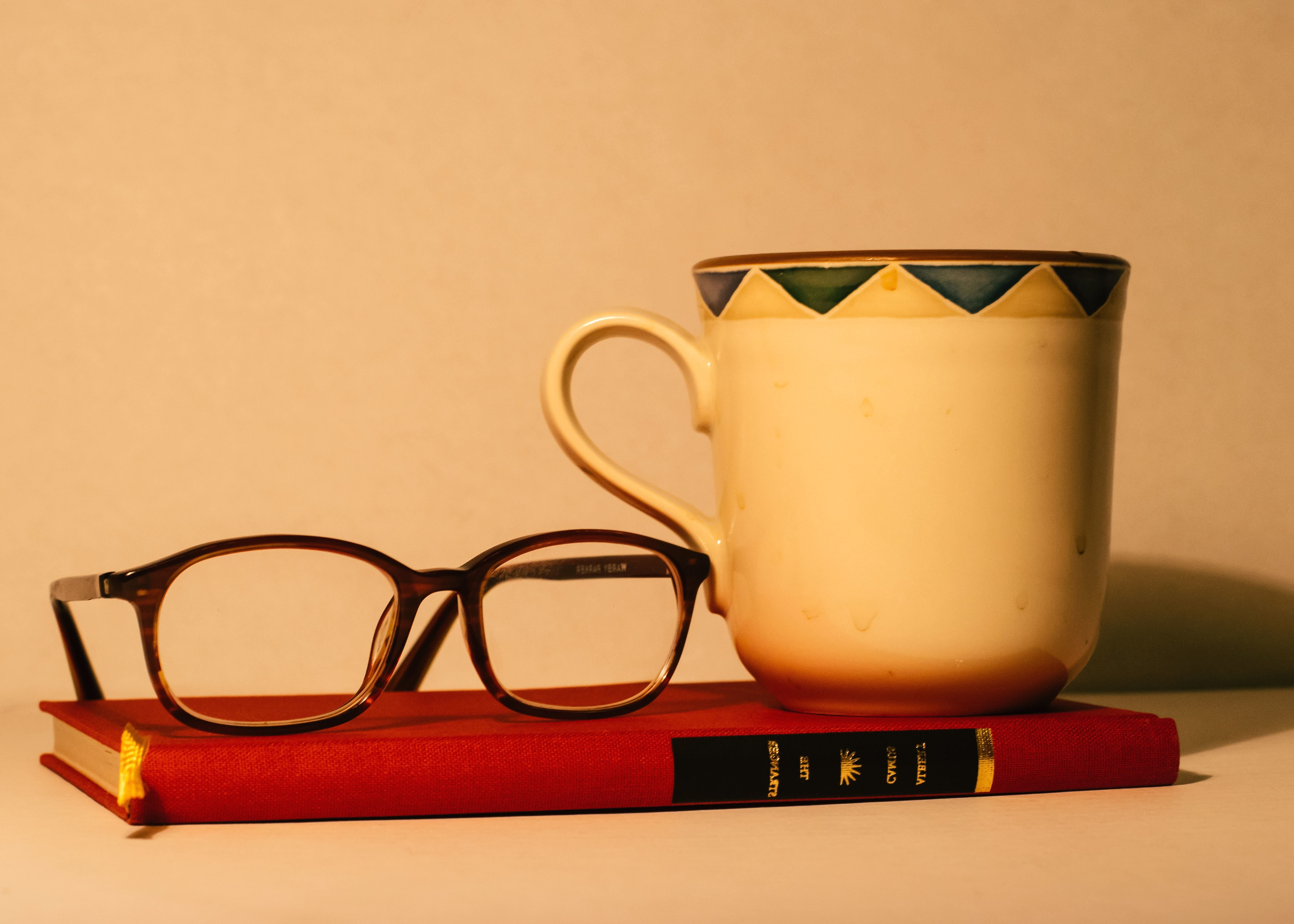 Free Picture Coffee Cup Drink Eyeglasses Coffee Mug