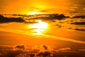 silhouette, sky, sun, cloud