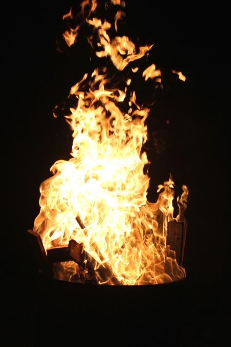 drva za ogrjev, plamen, toplinu, vruće, noć, logorska vatra, požar