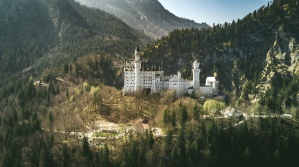 tree, valley, architecture, building, castle, forest, mountain