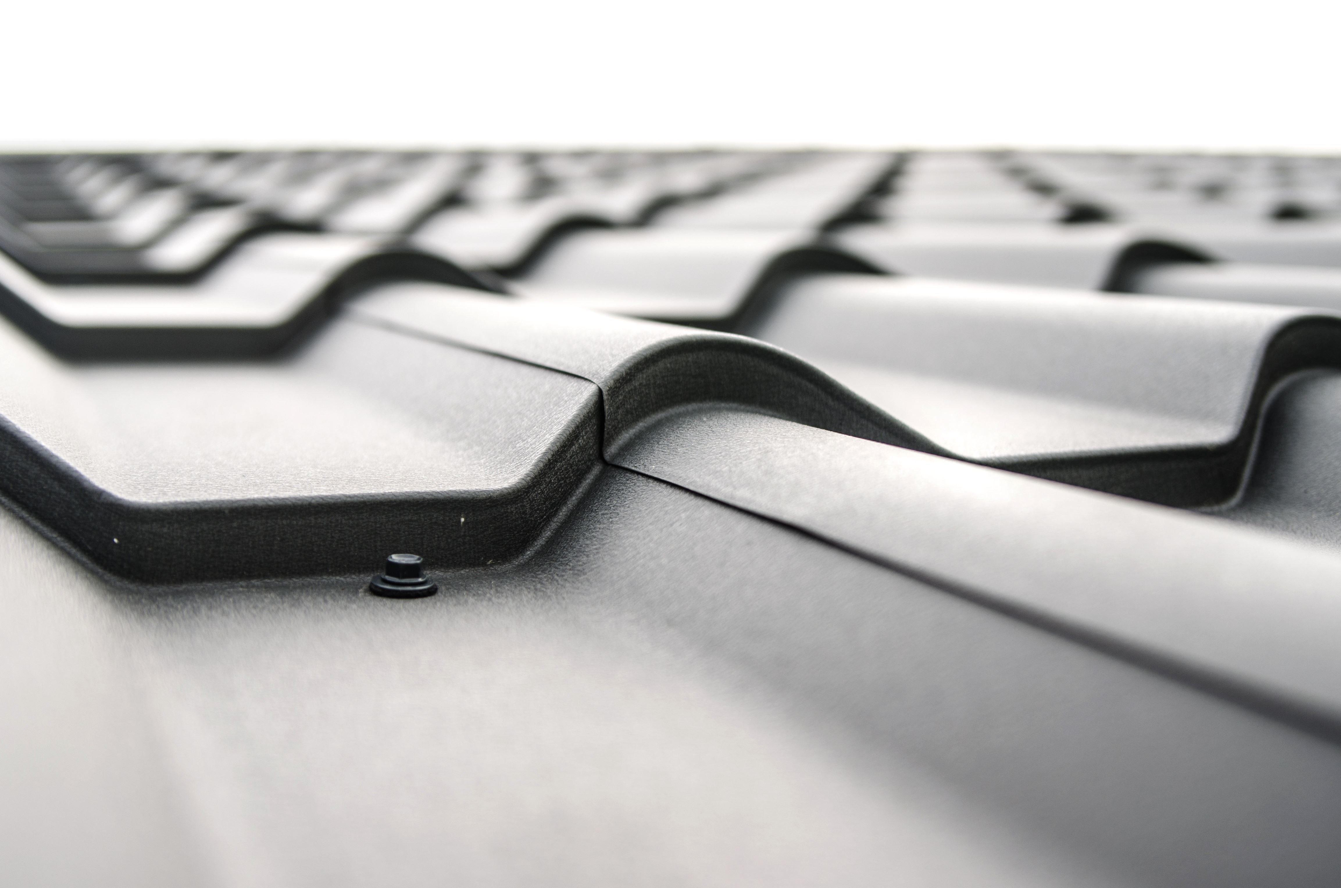 Foto gratis: tetto acciaio lamiera piastrelle architettura rivetti
