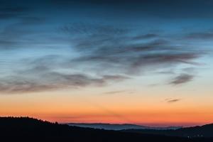 ουρανό, ηλιοβασίλεμα, φύση, σιλουέτα, βουνό