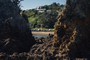 Rock, moře, voda, pobřeží, pláž, dům