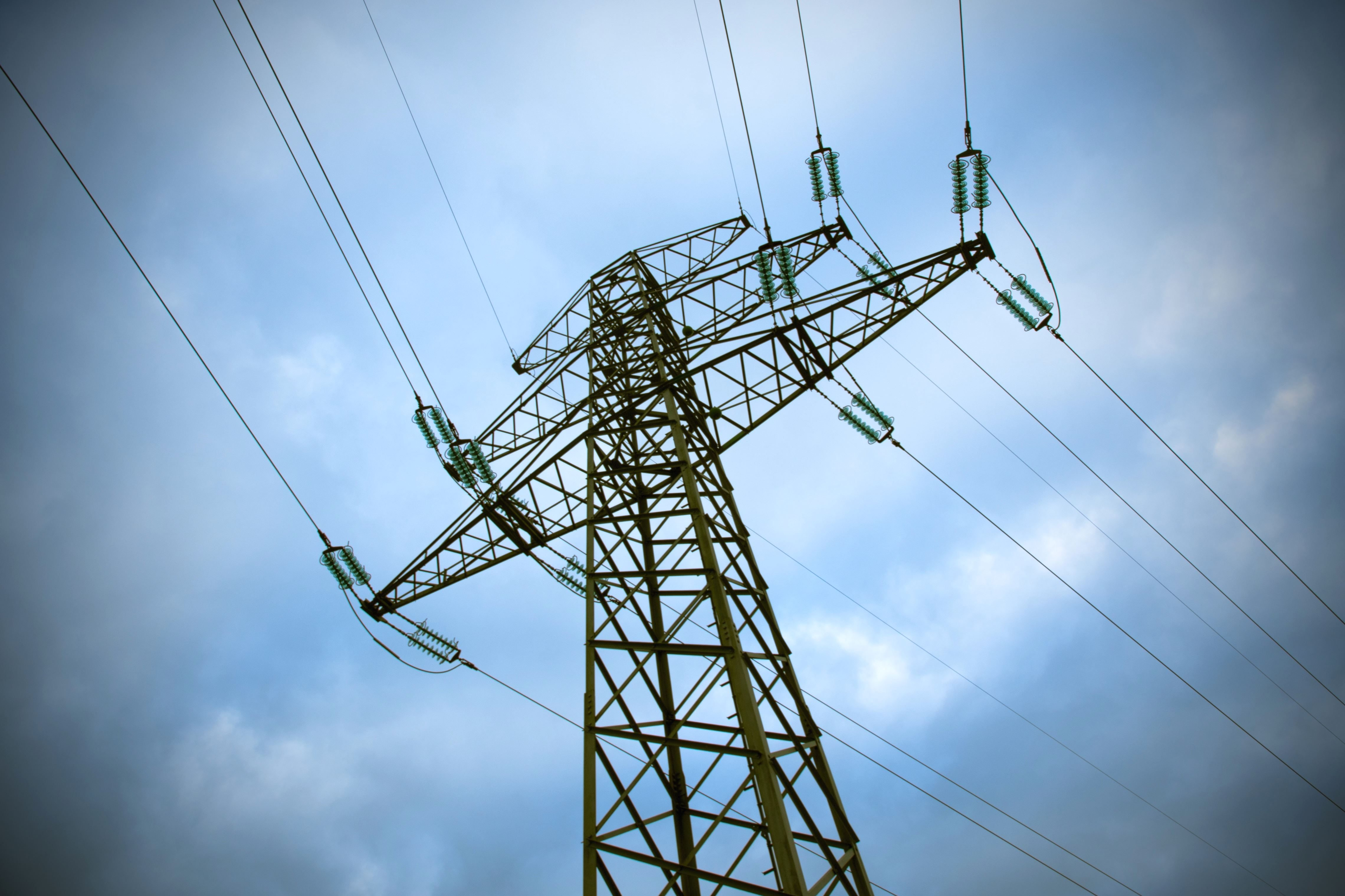 Free picture: voltage, wires, electricity, tower, energy, sky