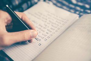 información, lista, cuaderno, papel, lápiz, mesa, texto