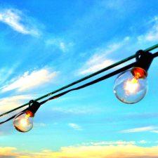 luz de bombilla, nube, cielo, calle, verano, sol, lámpara, luz