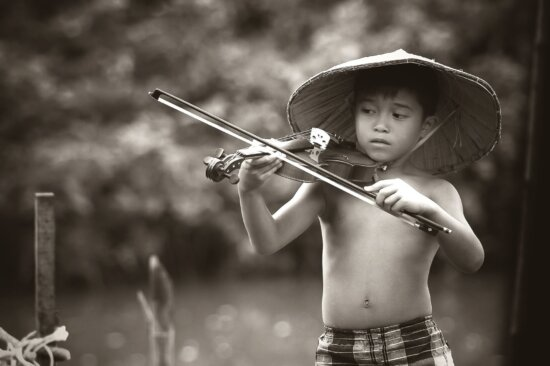 persone, persona, ritratto, estate, talento, violino, giovani