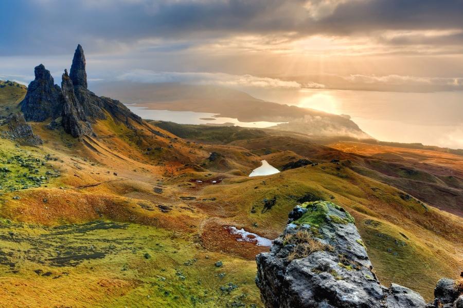 pegunungan, alam, batu, Danau, lansekap