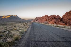 asfalto, rocas, viaje, hierba, camino