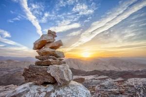 Felsen, Himmel, Steinen