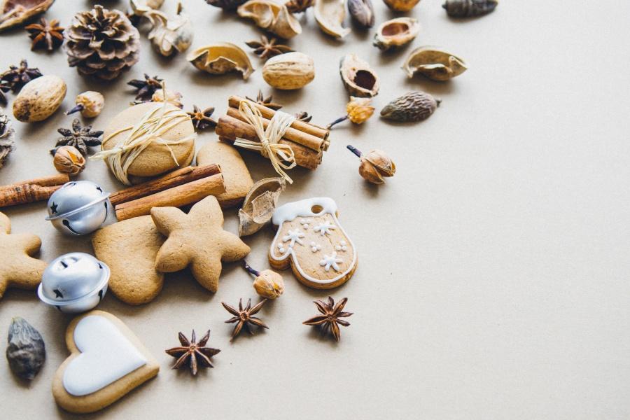 skořice, cookies, suchý, potraviny, přísady, koření, aromatické