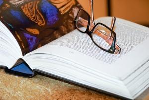 znalosti, stránce, papír, čtení, výzkum, kniha, brýle