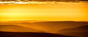 Sun, dusk, desert, sky, summer, mountain