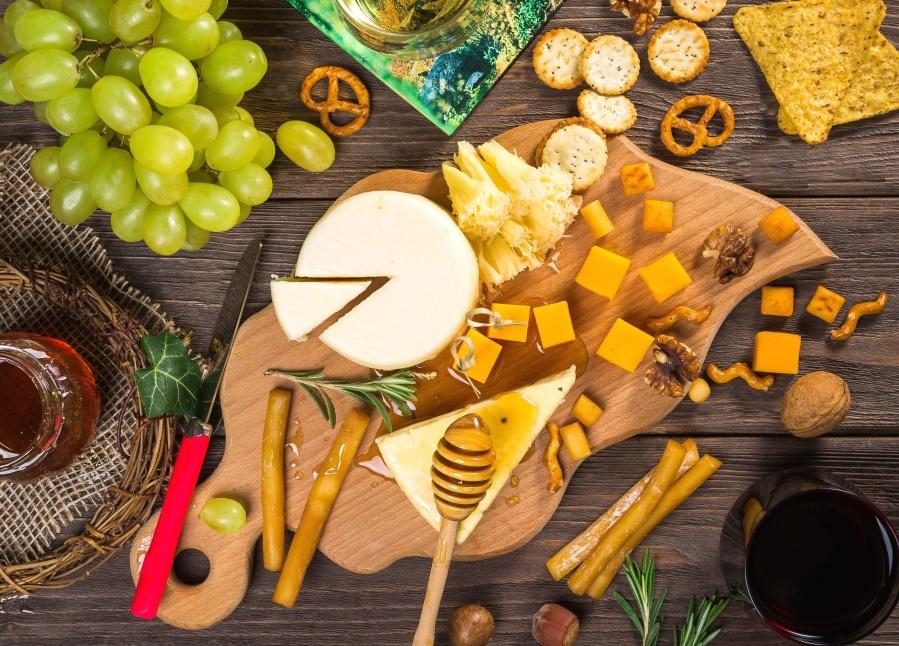 groenten, hout, houten, bowl, kaas, ingrediënten, voeding, dieet