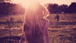 mooi meisje, fashion, veld, boom, vrouw