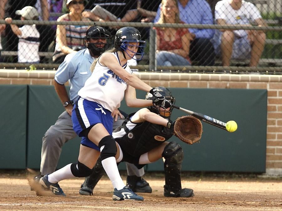 gens, baseball, joueurs, sport, stade, uniforme, femmes, catcher, jeu