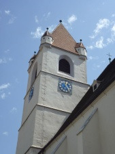 clock, sky, church tower, building, architecture, window