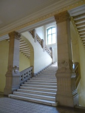 building, interior, stairs, room, window, architecture