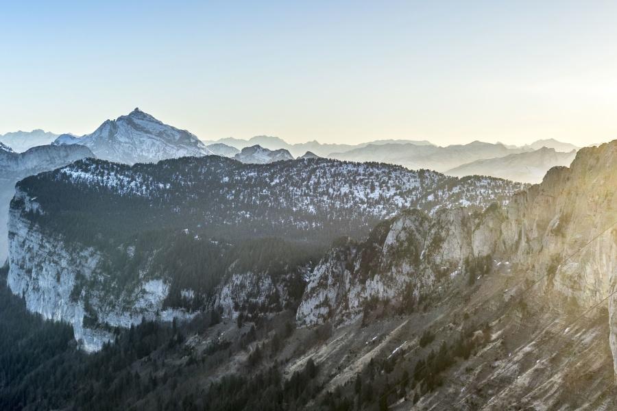 자연, 하늘, 풍경, 산, 눈