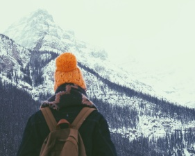 snow, person, winter, cold, man, mountain