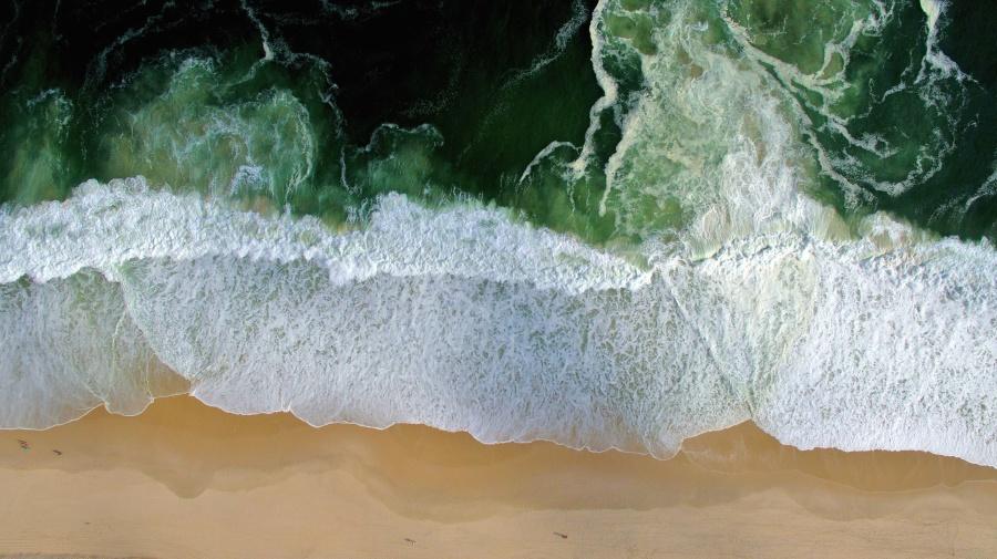 biển, xốp, bờ biển, nước, thiên nhiên, bãi biển