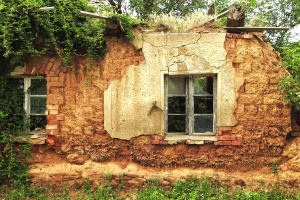 building, ruins, stone, windows, abandoned, architecture