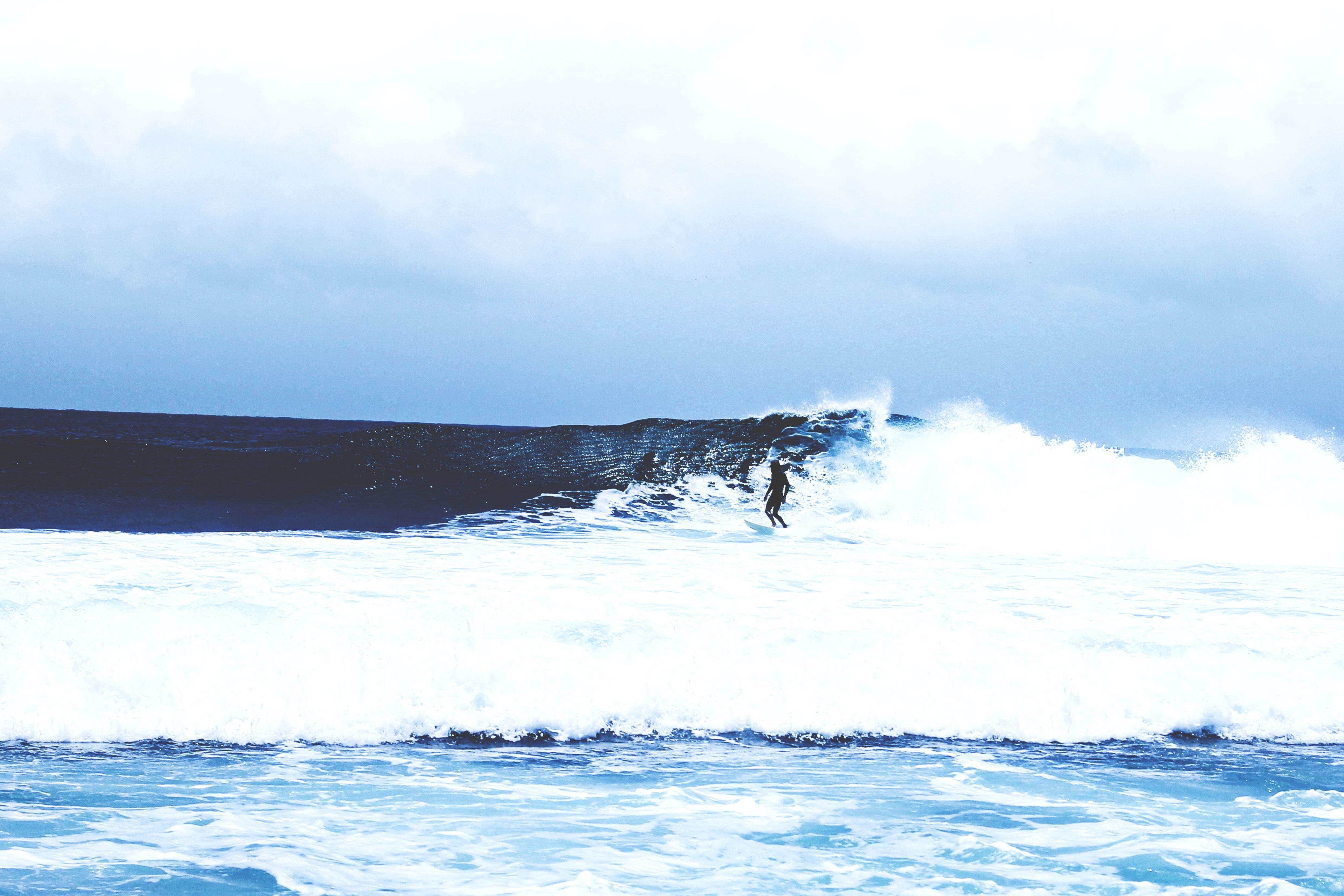 Sky, Wave, Splash, Summer, Surfing, Swim, Water, Ocean, Wind