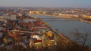 city, river, bridge, landscape, wood, architecture