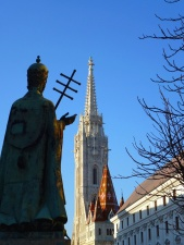 statue, architecture, building, sky, church, tower, tree