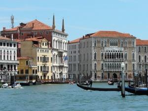 cestovní ruch, budovy, Itálie, voda, loď, architektura, lidé, cestování, obloha