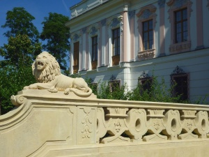 lion, statue, window, wood, building, architecture