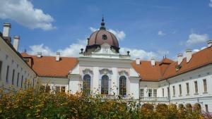 vár, épület, ablak, tető, tetőcserép, kerti