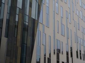 üveg, ablak, homlokzati, építészeti, épület, városi, város