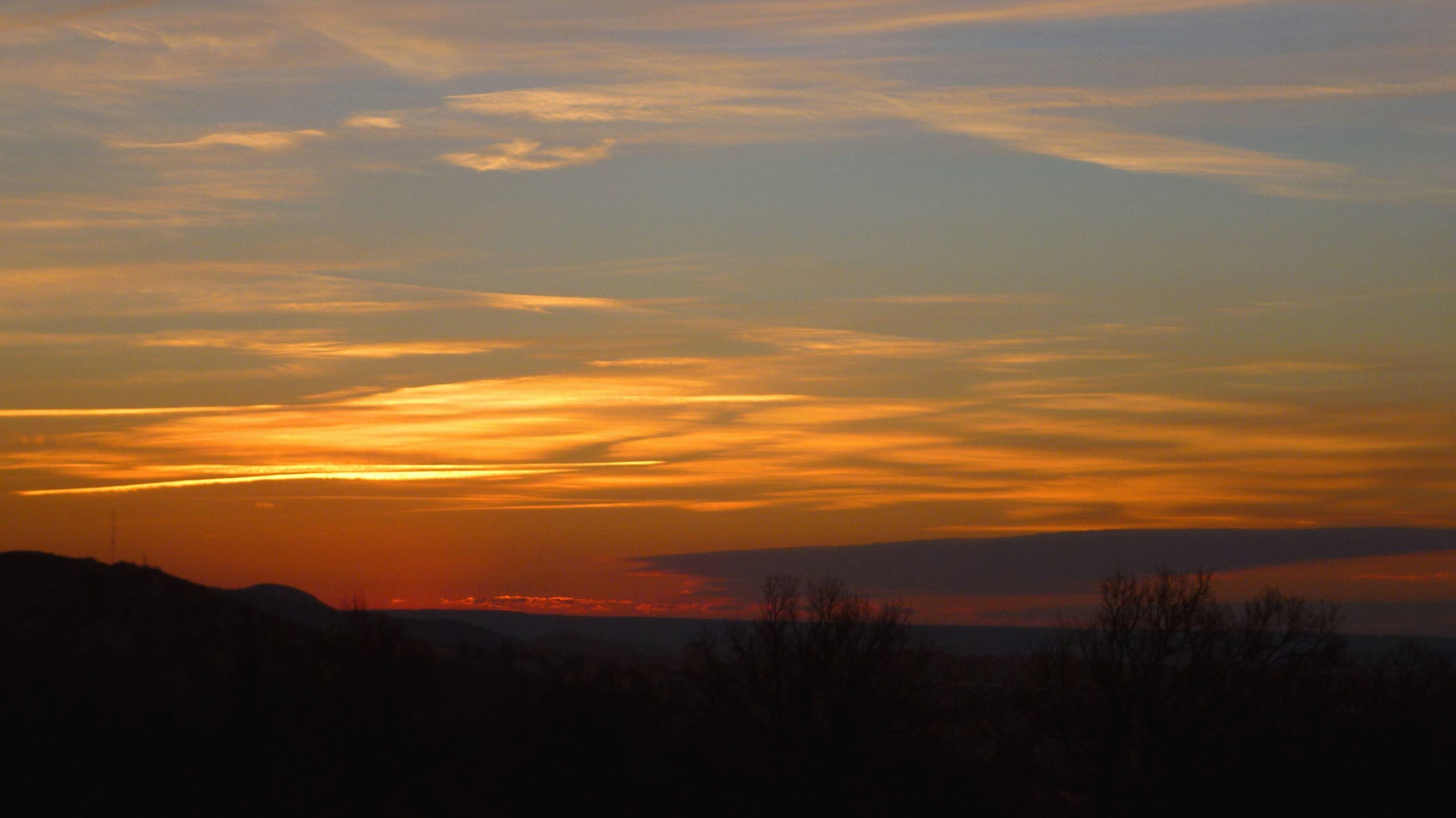 free picture sky mountain landscape dusk