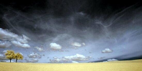 nature, sky, cloud, field, grass, landscape