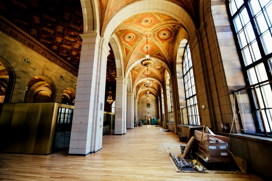 museum, pillar, arch, architecture, art, building, ceiling, chandelier
