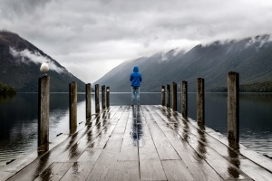 water, weather, wood, mountain, nature, lake, rain