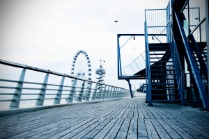 cầu, xây dựng, kinh doanh, kiến trúc, bãi biển, hàng rào, sàn