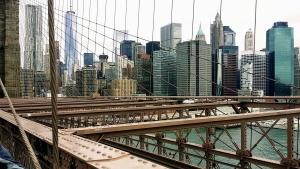 Urbano, agua, arquitectura, puente, edificios, negocios, ciudad