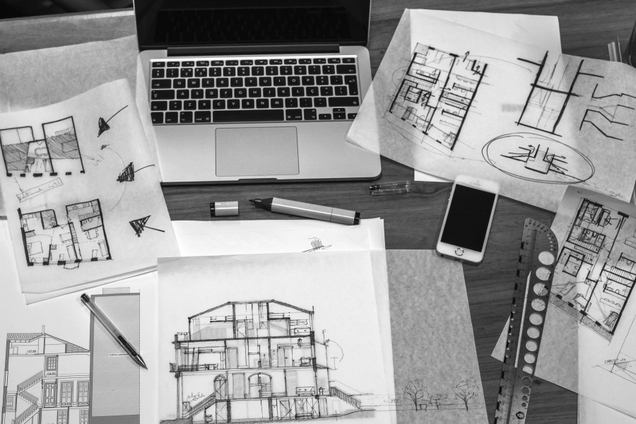 Free picture architect work desk drawings blueprint for Architect online free