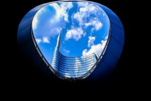 exteriér, vysoký, urban, dizajn, architektúra, budova, mesto, mrak, sklo
