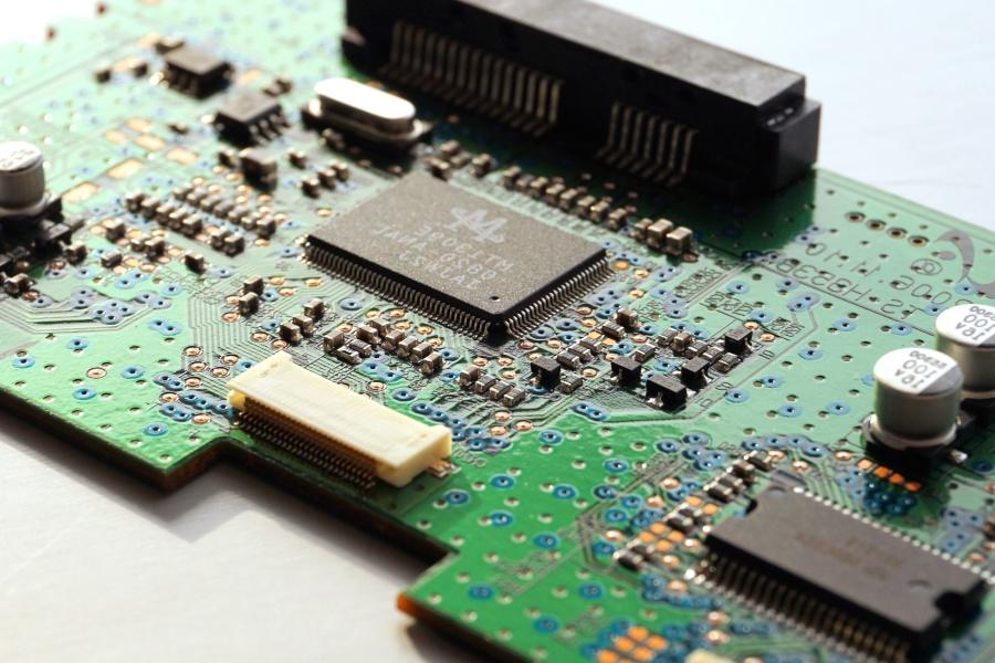 електроника, микропроцесори, дънна платка, компютърен чип