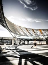 letisko, architektúra, most, budovy, Biznis, ľudí, cestnej