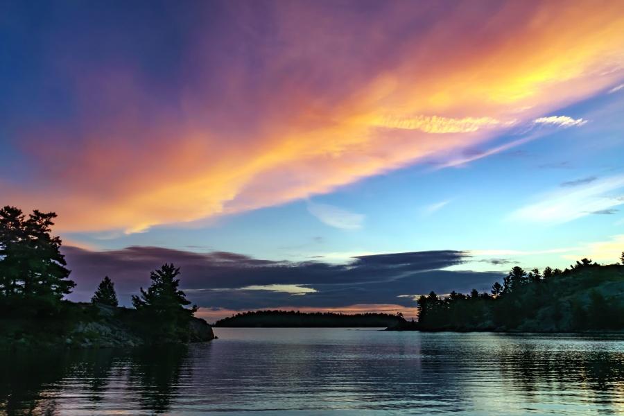 sky, tree, water, beach, island, mountain, nature