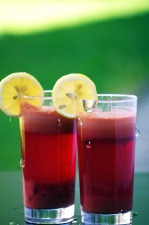 drink, glasses, fruit juice, lemon, beverage