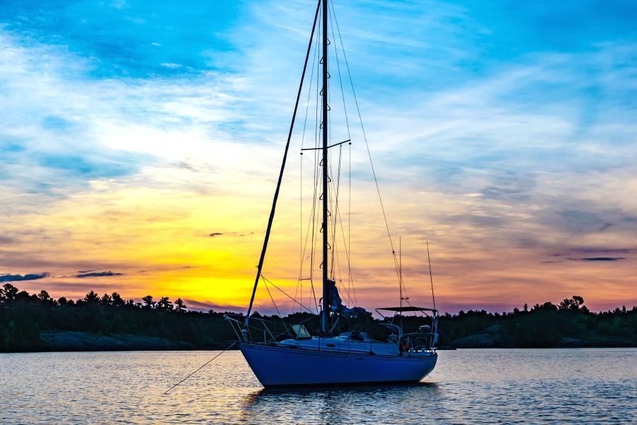 Eau, aventure, plage, bateau, yacht, mer